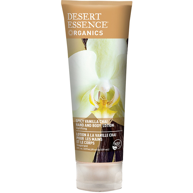 DESERT ESSENCE - HAND AND BODY LOTION - (Spicy Vanilla Chai) - 8oz