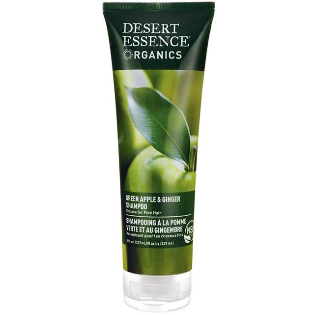 DESERT ESSENCE - SHAMPOO - (Green Apple & Ginger Volume for Fine Hair) - 8oz