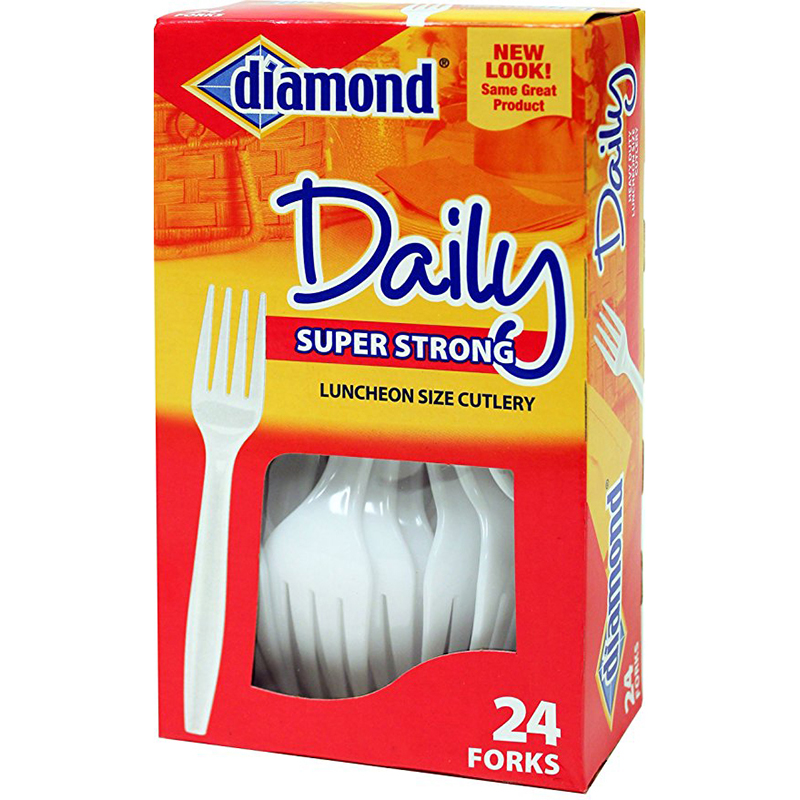 DIAMON - DAILY PLASTIC CUTLERY FORKS (24pcs)