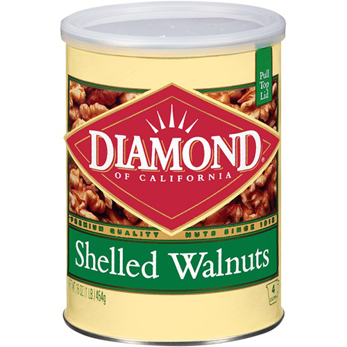 DIAMOND - SHELLED WALNUTS - 16oz