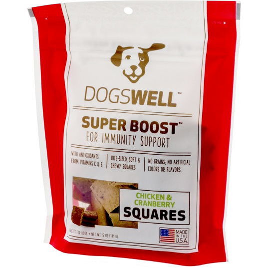 DOGSWELL - SUPER BOOST - (Squares | Chicken & Cranberry) - 5oz