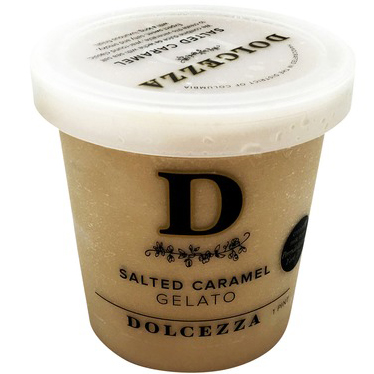 DOLCEZZA - SALTED CARAMEL GELATO - 16oz
