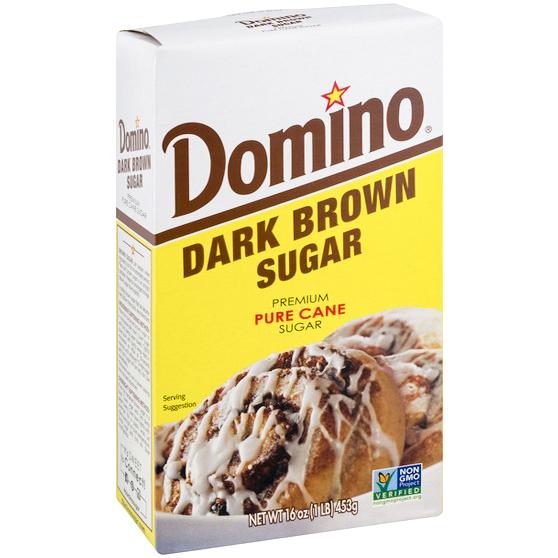 DOMINO - DARK BROWN SUGAR PURE CANE - NON GMO - 16oz