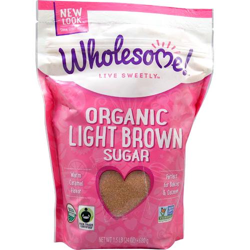 WHOLESOME! - ORGANIC LIGHT BROWN SUGAR - NON GMO - GLUTEN FREE - 24oz
