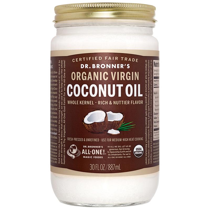 DR. BRONNER'S - ORGANIC VIRGIN COCONUT OIL - 14oz
