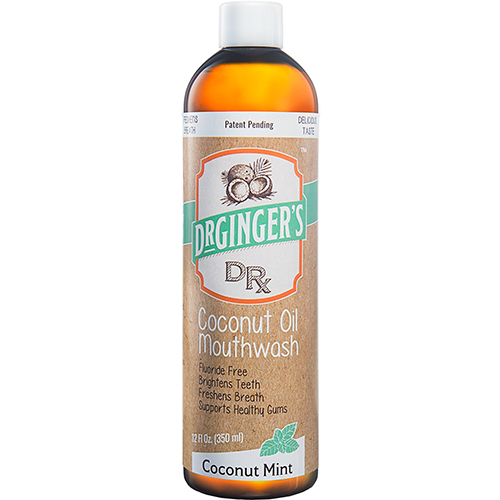 DR GINGER'S - COCONUT OIL MOUTHWASH - (Coconut Mint) - 12oz