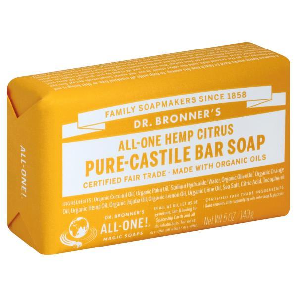 DR.BRONNER'S - PURE CASTILE BAR SOAP - (Hemp Citrus) - 5oz