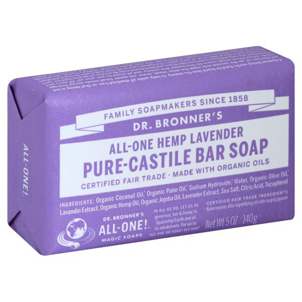 DR.BRONNER'S - PURE CASTILE BAR SOAP - (Hemp Lavender) - 5oz