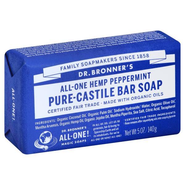 DR.BRONNER'S - PURE CASTILE BAR SOAP - (Hemp Peppermint) - 5oz