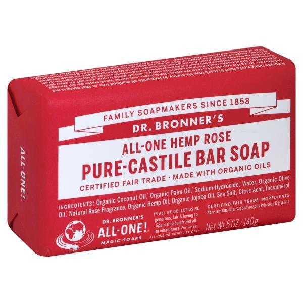 DR.BRONNER'S - PURE CASTILE BAR SOAP - (Hemp Rose) - 5oz