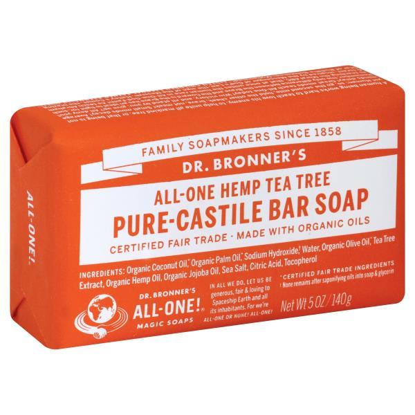 DR.BRONNER'S - PURE CASTILE BAR SOAP - (Hemp Tea Tree) - 5oz