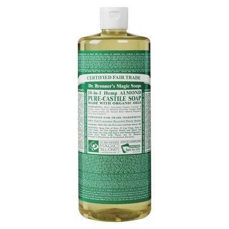 DR.BRONNER'S - PURE CASTILE SOAP - (Hemp Almond) - 32oz