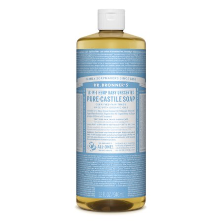 DR.BRONNER'S - PURE CASTILE SOAP - (Hemp Baby Unsceanted) - 32oz