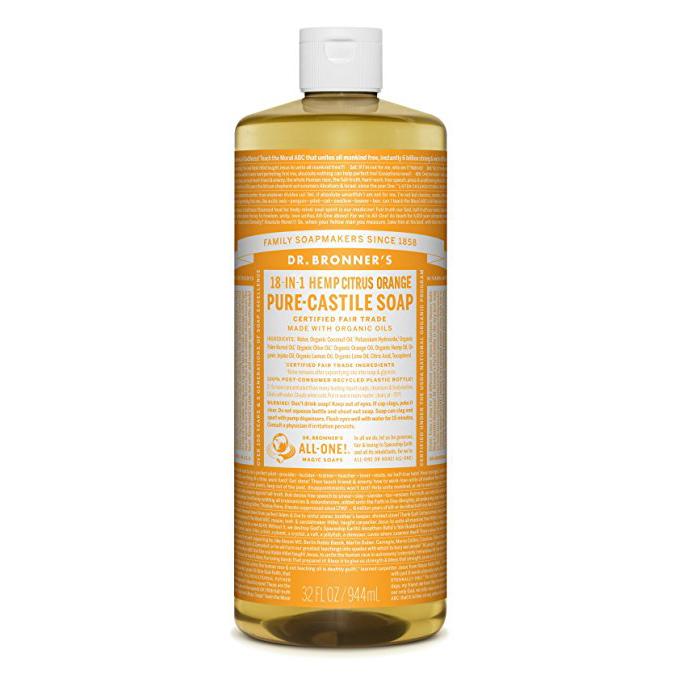 DR.BRONNER'S - PURE CASTILE SOAP - (Hemp Citrus) - 32oz