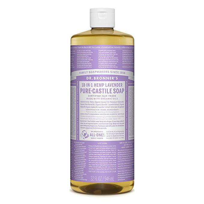 DR.BRONNER'S - PURE CASTILE SOAP - (Hemp Lavender) - 32oz