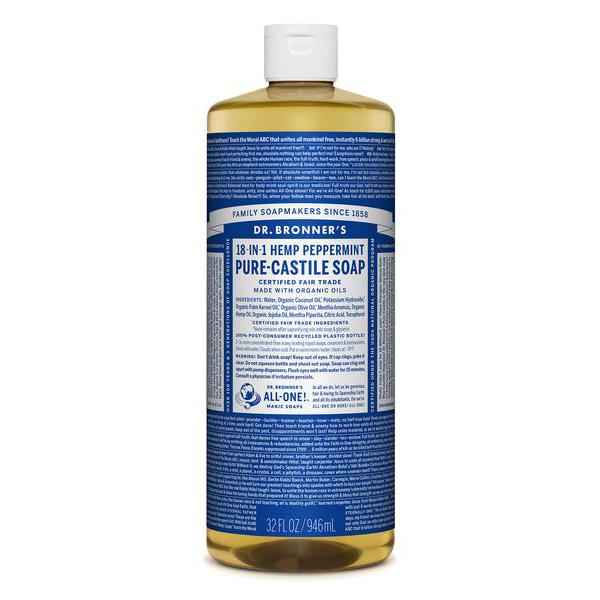 DR.BRONNER'S - PURE CASTILE SOAP - (Hemp Peppermint) - 32oz