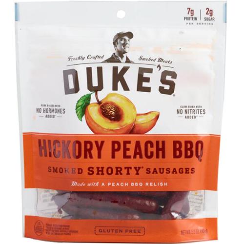 DUKE'S - SMOKED SHORTY SAUSAGES - (Hickory Peach BBQ) - 5oz
