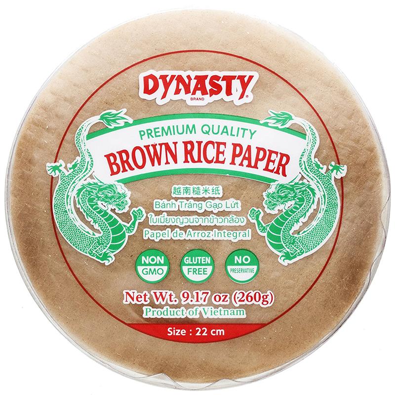 DYNASTY - BROWN RICE PAPER - NON GMO - GLUTEN FREE - 9.17oz