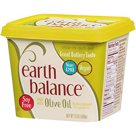EARTH BALANCE - SOY FREE BUTTERY SPREAD - (Olive Oil) - 13oz