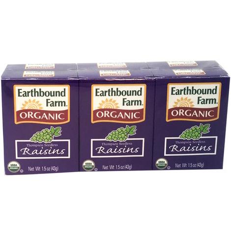 EARTHBOUND FARM - ORGANIC RAISINS RAISINS SECS - 1.5oz(6PACKS)