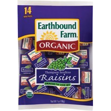 EARTHBOUND FARM - ORGANIC THOMPSON SEEDLESS RAISINS - 7oz