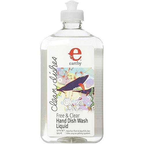 EARTHY - NATURAL HAND DISH WASH LIQUID - (Free & Clear) - 17oz