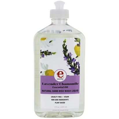 EARTHY - NATURAL HAND DISH WASH LIQUID - NON GMO - VEGAN - (Lavender Chamomile) - 17oz