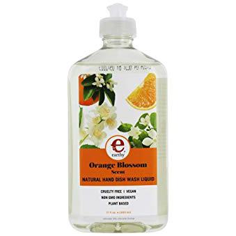 EARTHY - NATURAL HAND DISH WASH LIQUID - NON GMO - VEGAN - (Orange Blossom) - 17o