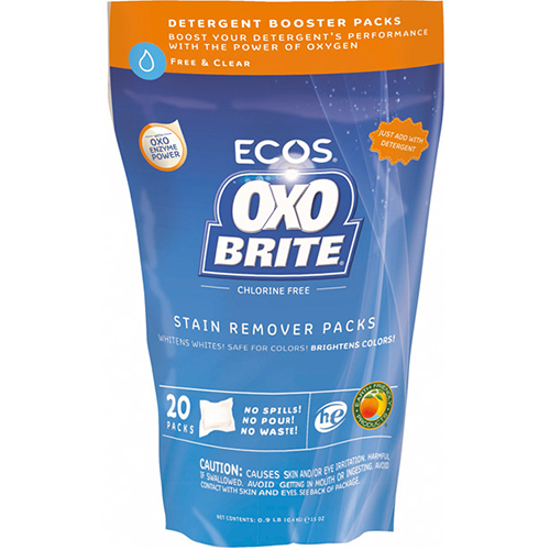 ECOS - OXO BRITE STAIN REMOVER PACKS - 20PCS 15oz