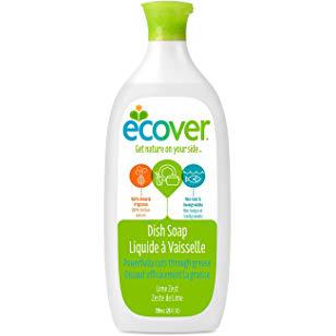ECOVER - ZERO DISH SOAP - (Lime Zest) - 25oz
