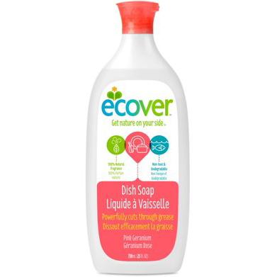 ECOVER - ZERO DISH SOAP - (Pink Geranium) - 25oz