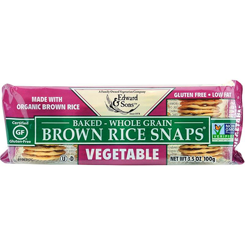 EDWARD & SONS - BROWN RICE SNAPS - (Vegetable) - 3.5opz