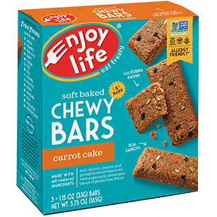 ENJOY LIFE - SOFT BAKED CHEWY 5 BARS - (Carrot Cake) - 5.75oz