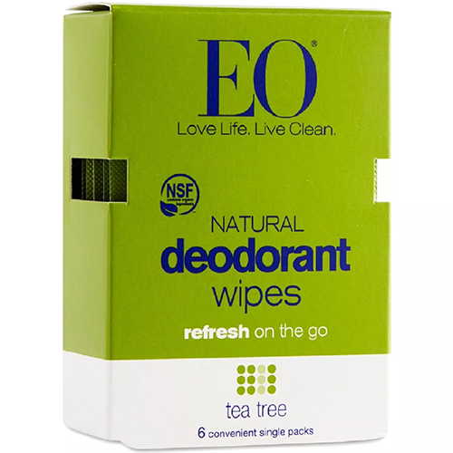 EO - NATURAL DEODORANT WIPES - (Tea Tree) - 6PCK