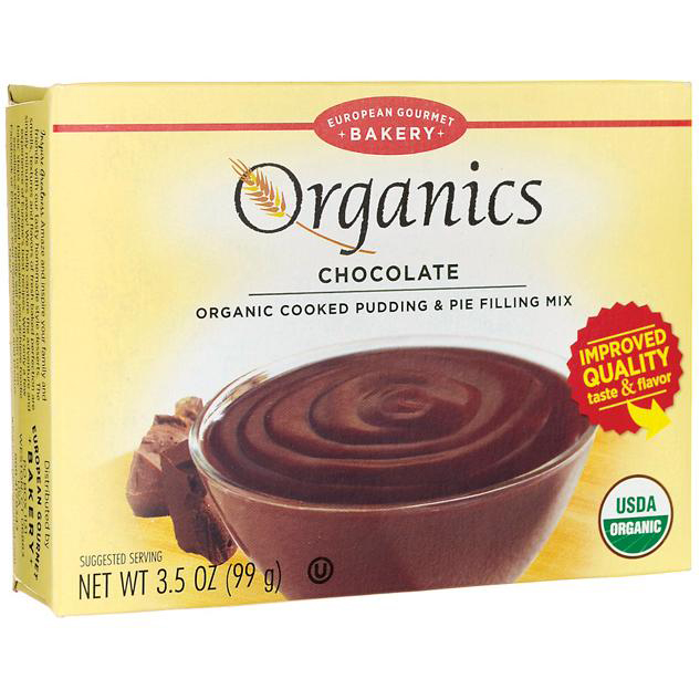 EUROPEAN GOURMET BAKERY - ORGANICS ORGANIC COOKED PUDDING & PIE FILLING MIX - BAKING - (Chocolate) -