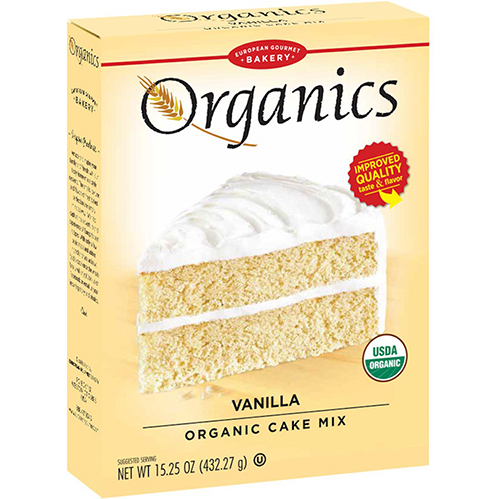 EUROPEAN GOURMET BAKERY - ORGANICS - (Vanilla Cake Mix) - 15.25oz