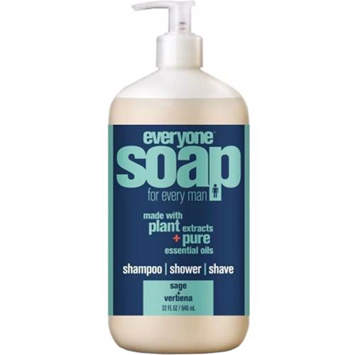 EVERYONE - SOAP FOR EVERY MAN - (Sage + Verbena) - 32oz