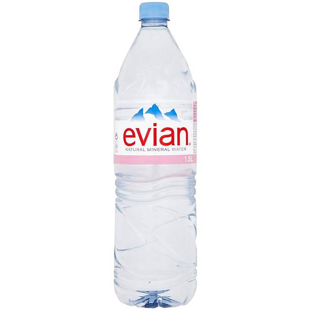 EVIAN - NATURAL SPRING WATER - 1.5L