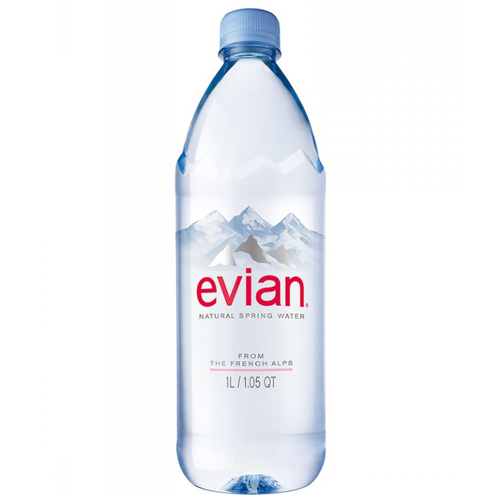 EVIAN - NATURAL SPRING WATER - 1L