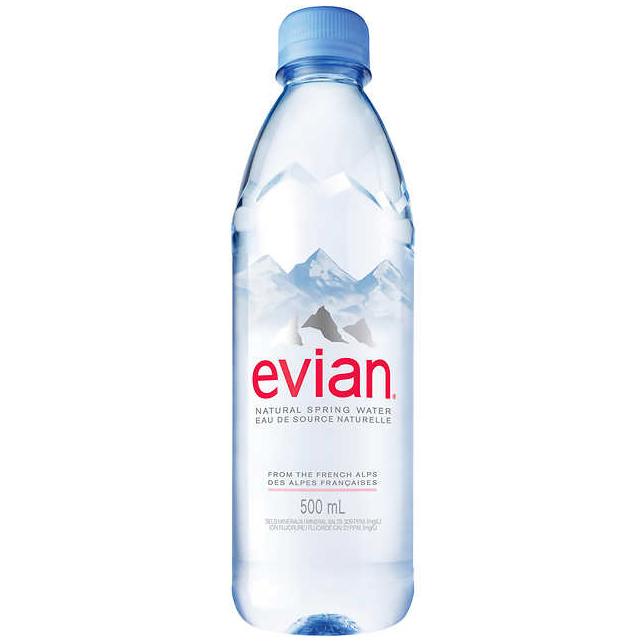 EVIAN - NATURAL SPRING WATER - 500ml