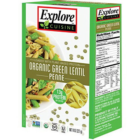EXPLORE CUISINE - LOADED /W PLANT - BASED PROTEIN - (Green Lentil Penne) - 8oz