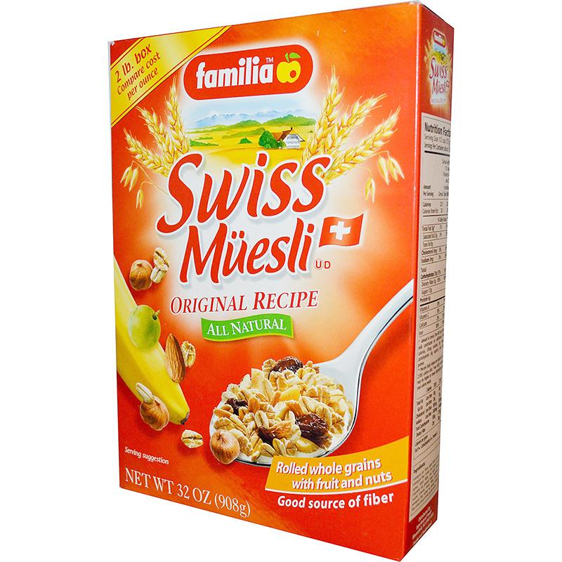 FAMILIA - SWISS MUESLI - NATURAL - NON GMO - (Original Recipe) - 32oz