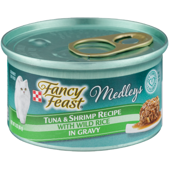 FANCY FEAST - MEDLEYS - (Tuna & Shrimp Recipe /w Wild Rice in Gravy) - 3oz