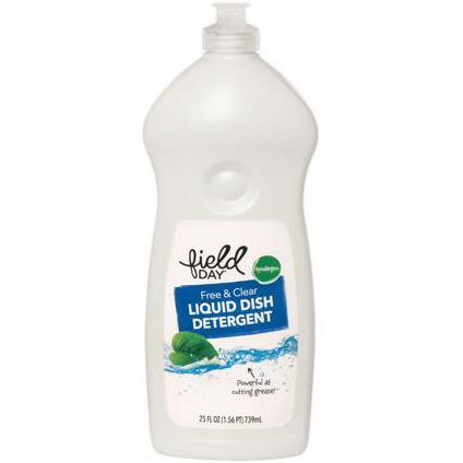 FIELD DAY - LIQUID DISH DETERGENT - (Free & Clear) - 25oz