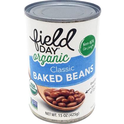 FIELD DAY - ORGANIC CLASSIC BAKED BEANS - NON GMO - VEGAN - 16oz