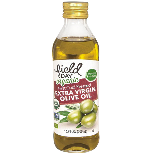 FIELD DAY - ORGANIC FIRST COLD PRESSED EXTRA VIRGIN OLIVE OIL - NON GMO - 17oz