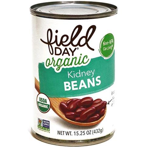 FIELD DAY - ORGANIC KIDNEY BEANS - NON GMO - 15oz