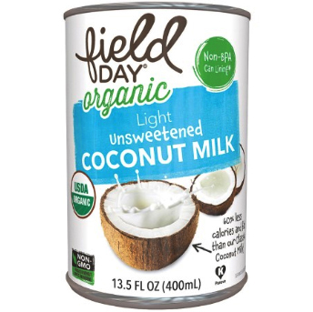 FIELD DAY - ORGANIC UNSWEETENED COCONUT MILK - NON GMO - (Light) - 13.5oz