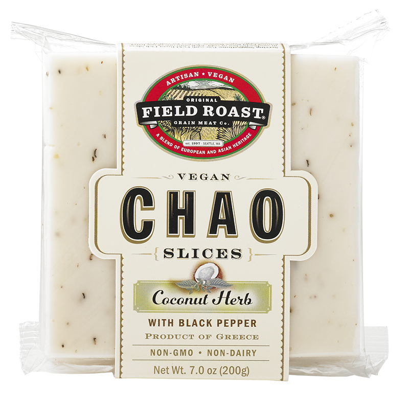 FIELD ROAST - CHAO SLICE - NON GMO - DAIRY FREE - VEGAN - (coconut Herb /w Black Pepper) - 7oz