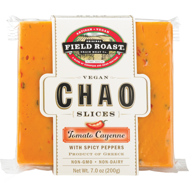 FIELD ROAST - CHAO SLICE - NON GMO - DAIRY FREE - VEGAN - (Tomato Cayenne /w Spicy Pepper) - 7oz
